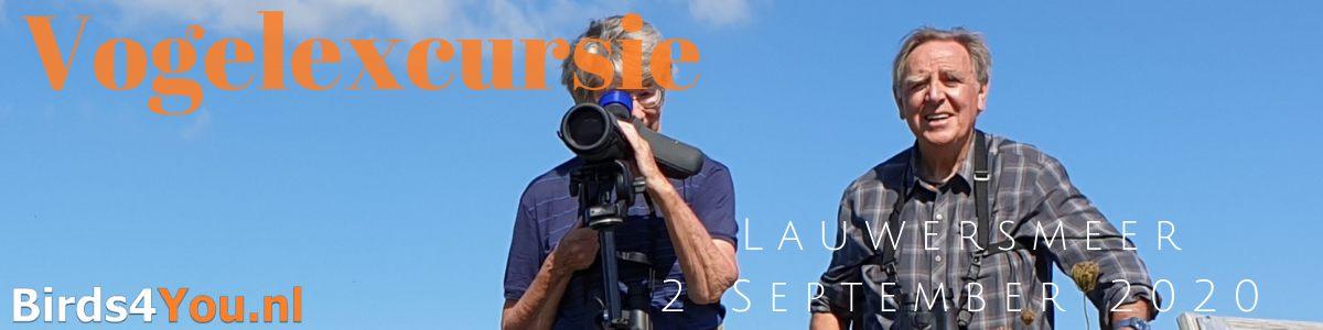 Vogelexcursie Lauwersmeer 2 September 2020