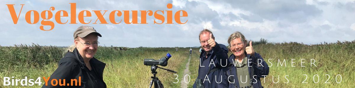 Vogelexcursie Lauwersmeer 30 Augustus 2020