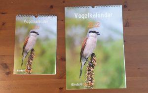 Vogelkalender A4 en A3 2022 Voorzijde