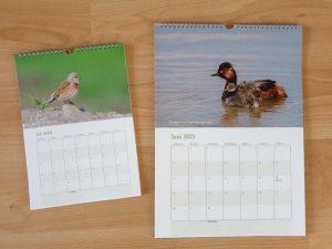 Kalender met vogels 2021 Binnenzijde