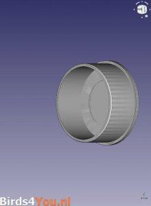 Ontwerpen van de Coronadop in een CAD programma